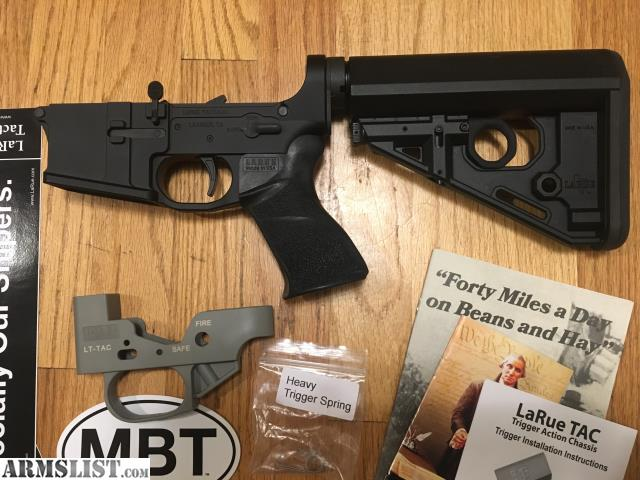 ... a LaRue Tactical MBT-2S 2 stage match trigger. Complete and ready to  go. $450 shipped to your FFL dealer. Email me with any questions. No sales  to CA.