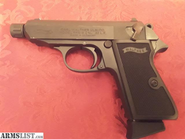 ARMSLIST - For Sale/Trade: Walther ppk/s  22lr with threaded