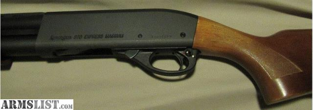 i am selling a remington 870 express magnum 12 gauge shotgun with original wood stock and matte black finish this shotgun is in great condition