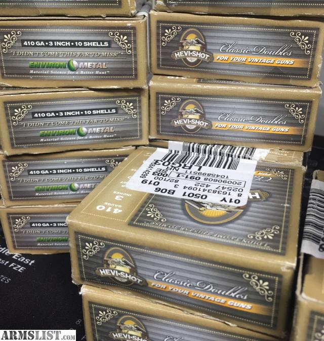 ARMSLIST - For Sale: Hevi-Shot Classic Double 410 Ammo