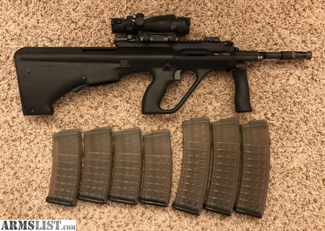 Armslist for sale steyr aug a3 m1 long rail black non nato for sale is my like new steyr aug a3 m1 556x45 in black and with the standard aug stock takes non nato magazines bought brand new almost a year ago voltagebd Gallery