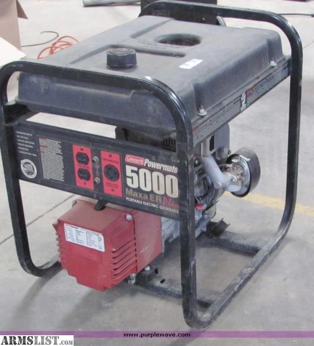 armslist  trade  coleman 5000 watt generator