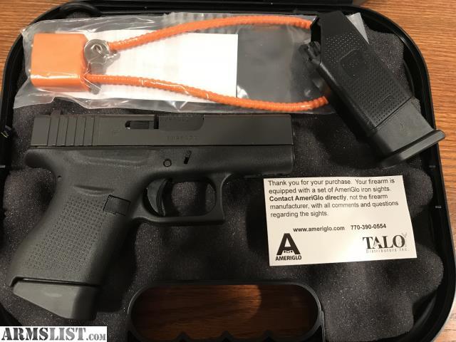 armslist for sale glock 43 talo edition 9mm