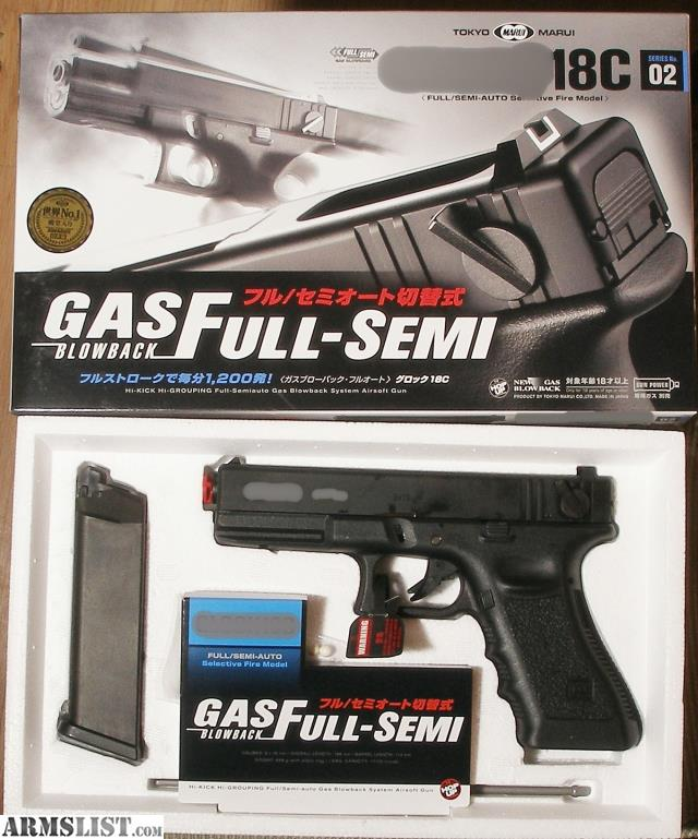 ARMSLIST - For Sale: Tokyo Marui G18 C automatic 6mm Airsoft