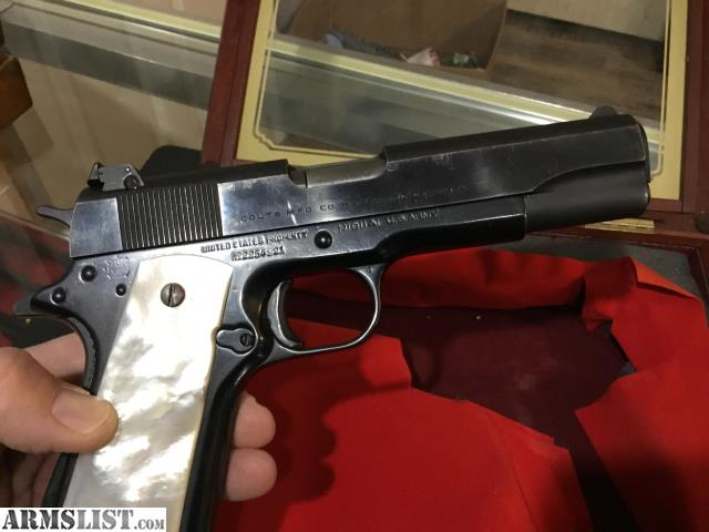 ARMSLIST - For Sale: Colt 1911A1 - US Army Frame