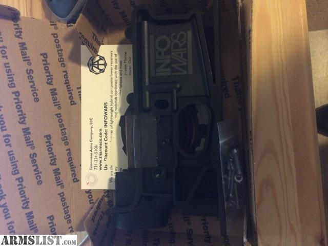 ARMSLIST - For Sale: Tennessee Arms Infowars 80% lower