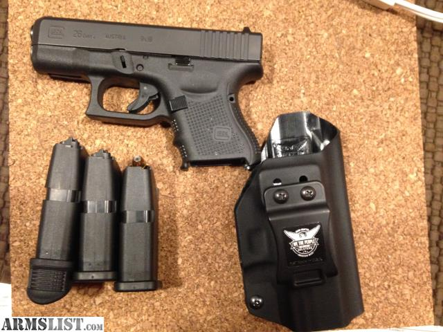 ARMSLIST - For Sale: Glock 26 gen 4 PRICE REDUCED