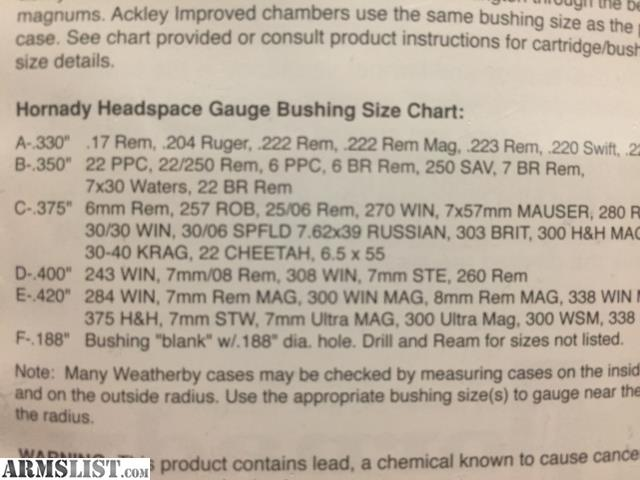 hornady headspace gauge instructions