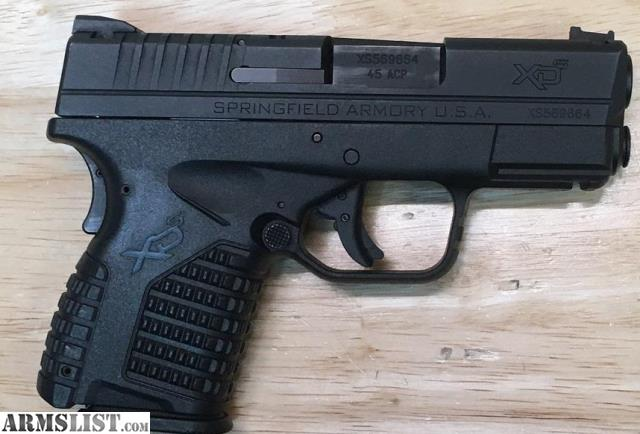 Armslist For Sale Springfield Armory Xds 45 3 3 Used