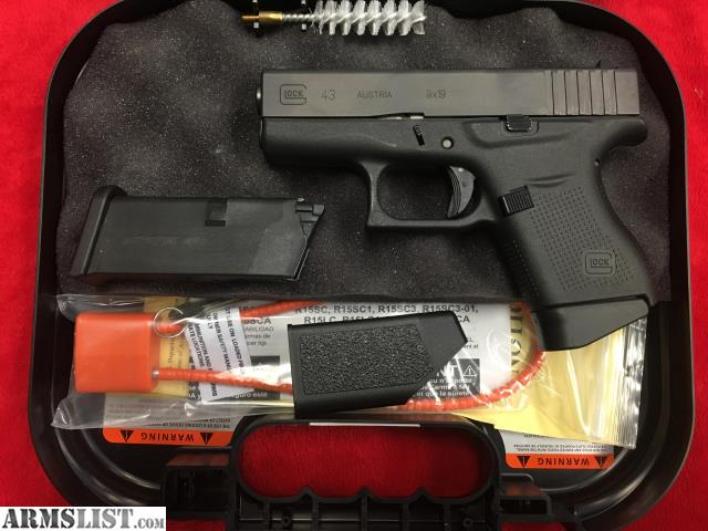 Armslist for sale glock 43 9x19 w 2 mags in orig box for Golden nugget pawn jewelry holiday fl