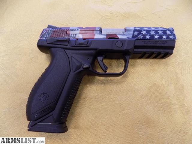 ARMSLIST - For Sale: Ruger American Flag custom cerakote 9mm