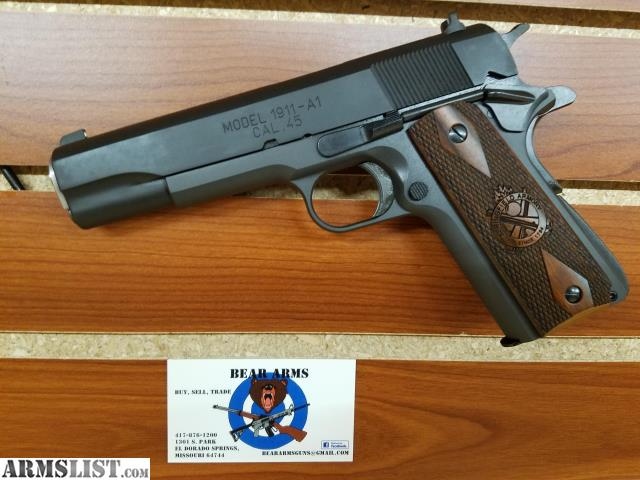 ARMSLIST - For Sale: SPRINGFIELD ARMORY 1911-A1 MIL SPEC 45 ACP