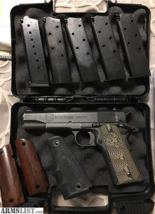 ARMSLIST - For Sale/Trade: Rock Island Armory 1911 (5) mags G10