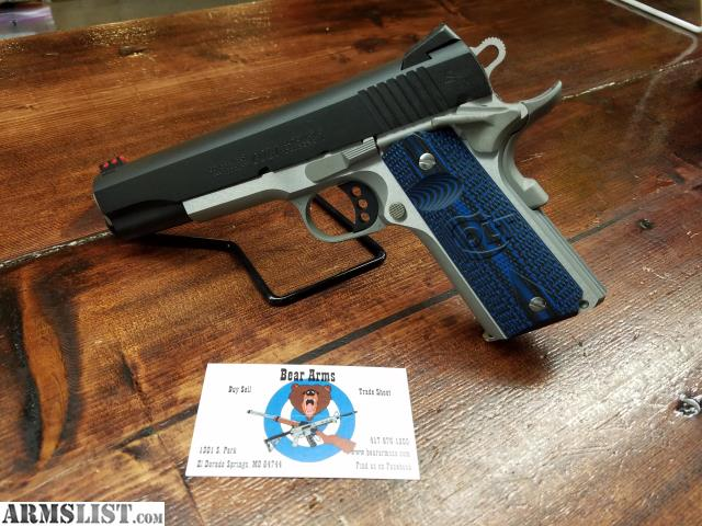 El Dorado Blue Card >> ARMSLIST - For Sale: COLT COMPETITION 1911 GOVERNMENT 9MM