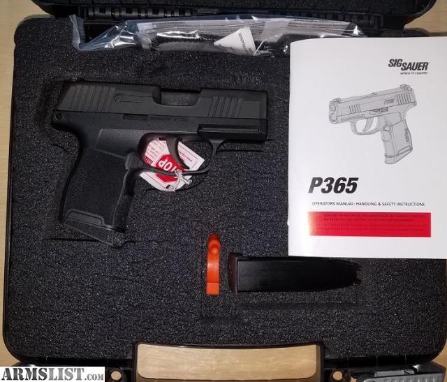 Armslist For Sale Sig Sauer P365 9mm 499