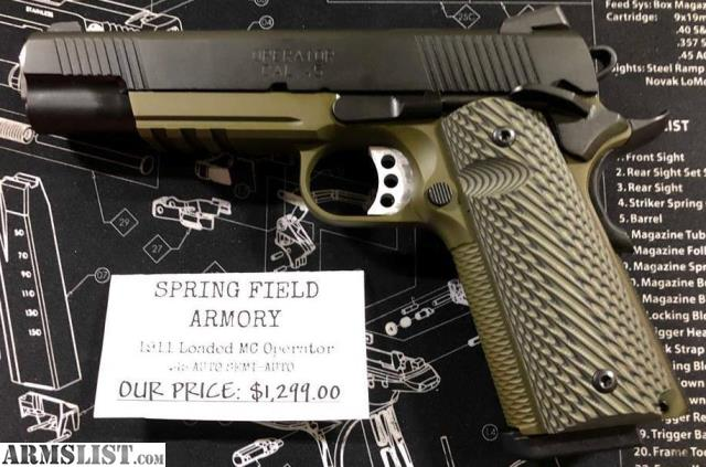 ARMSLIST - For Sale: Springfield Armory 1911 MC OPERATOR