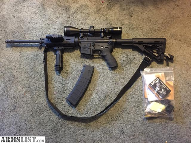 Armslist For Sale Bushmaster Ar15 223 5 56 With Scope Led