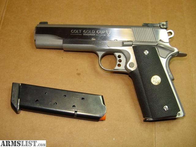 ARMSLIST - For Sale: Colt 1911 Gold Cup Trophy Stainless Steel .45 Cal. Pistol With Extra Magazine