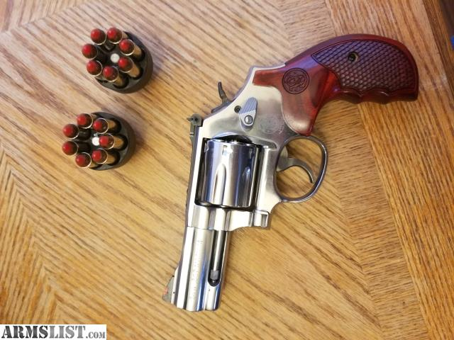 Smith Wesson 686 With 3 Barrel Excellent Condition Replaced MIM Parts Trigger Job Done By Gunsmith Cherry Grips 7 Shot 357 Magnun