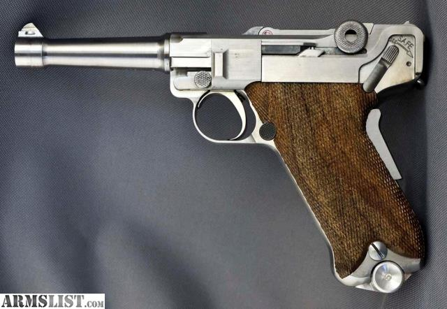 For Sale: Luger 1907 Stainless Steel In 45 ACP