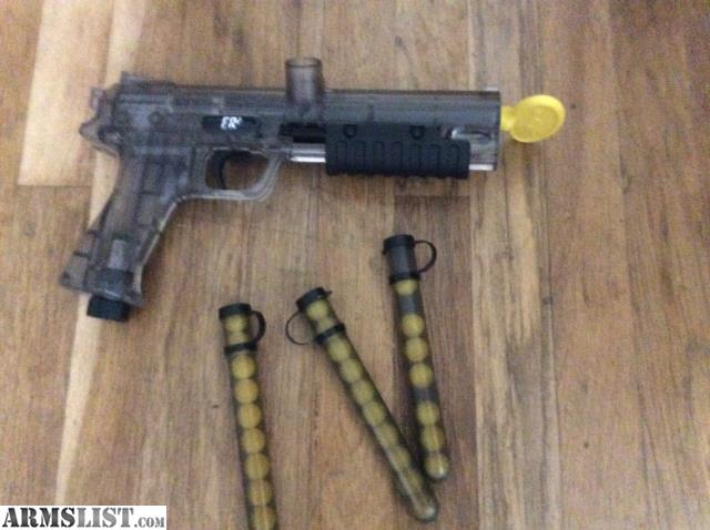 ARMSLIST - For Sale: Paintballgun pump action used once ...
