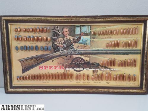 ARMSLIST - For Sale: Vintage Speer Bullet Boards! Hard to find!