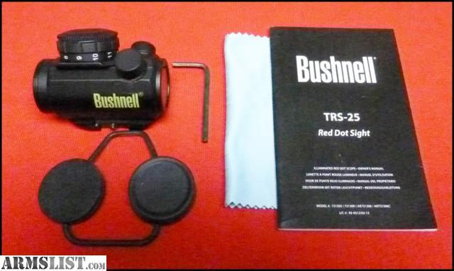 Bushnell trophy red dot manual