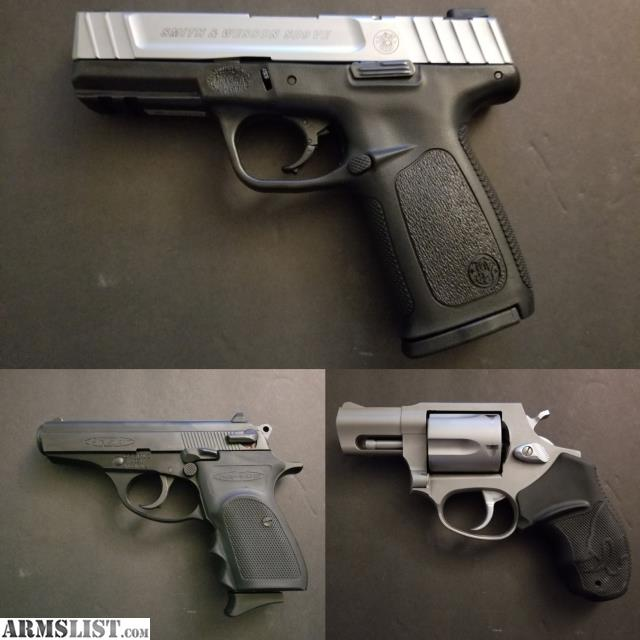 ARMSLIST - For Sale: For Sale: S&W SD9, Bersa 380, and