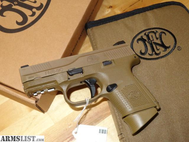 armslist for sale new fn fns 9c fde 9mm pistol