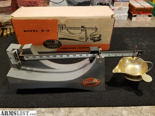 Armslist For Sale Vintage Lyman Ohaus Beam Scale