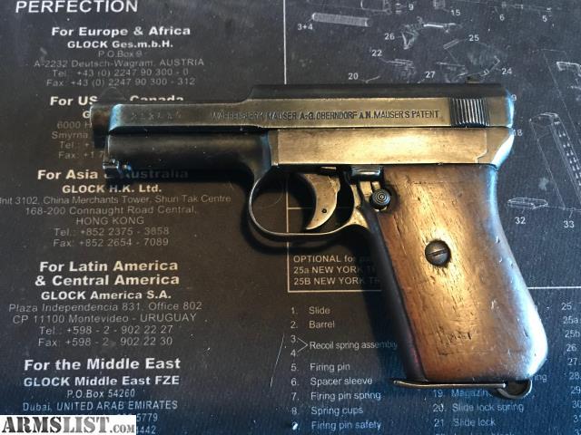 Armslist For Sale Mauser Model 1914 7 65 32 Acp