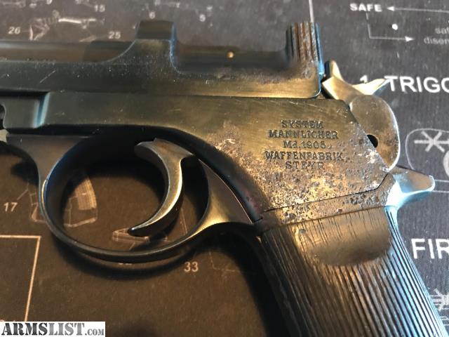 Armslist For Sale Mannlicher Steyr Model Md 1905