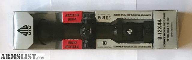 ARMSLIST - For Sale: UTG 3-12X illuminated reticle scope
