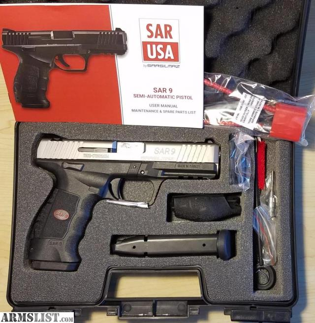 ARMSLIST - For Sale: SAR USA SAR9 in 9mm, Stainless Steel