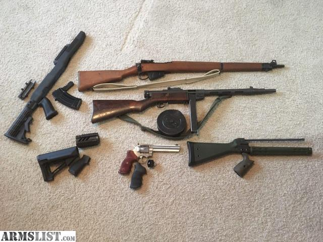ARMSLIST - For Sale: Suomi, Ruger GP100, SKS Stock and AR parts