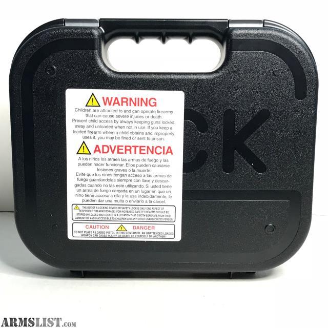 ARMSLIST - For Sale: OEM Factory Glock Hard Case w/Sealed