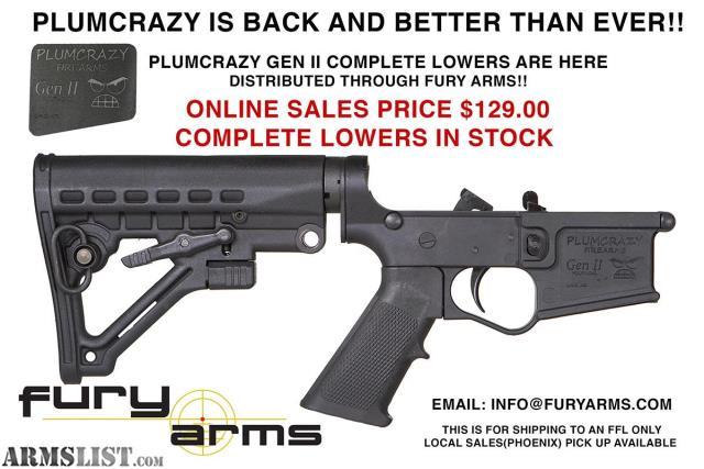 ARMSLIST - For Sale: PLUM CRAZY AR15 LOWER RECEIVER