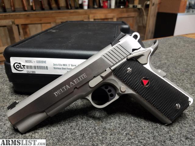 ARMSLIST - For Sale: Colt Delta Elite 10mm Stainless Steel, Novak