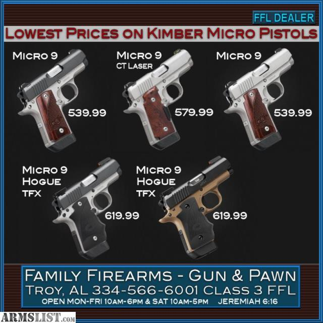 Kimber Micro 9 Stainless Dn Tfx Pro Sight Hogue: For Sale: Kimber Micro 9 Desert Night (DN) (9mm