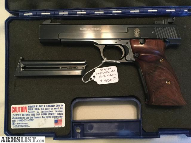 ARMSLIST - For Sale: Smith & Wesson Model 41,  22 l r