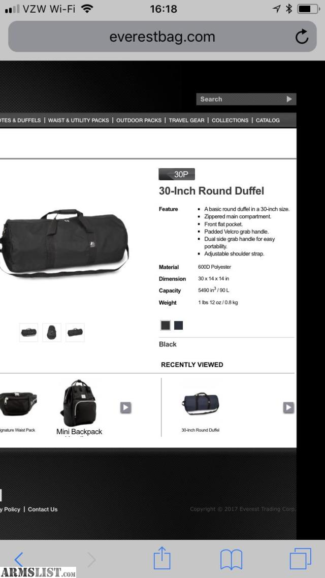 """93691d279956 ARMSLIST - For Sale  Everest 30"""" Navy Blue Round Duffle Bags (lot of 5)"""