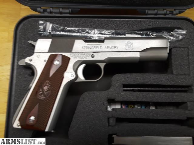 ARMSLIST - For Sale/Trade: Springfield 1911 stainless a-1