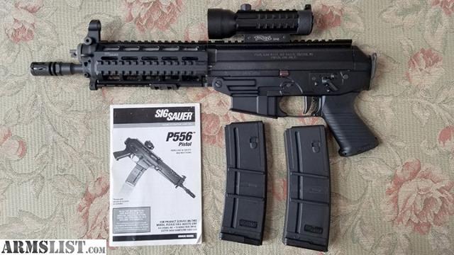 Sig Sauer 556 Pistol SWAT Quad Rail Piston Operated Used Very Little