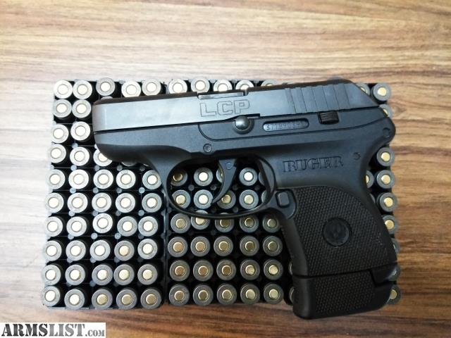 ARMSLIST - For Trade: Ruger LCP w/ extended mag, 150 rds of ammo