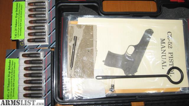 Instruction manual pistol Cz 27