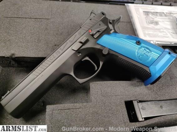 ARMSLIST - For Sale: NEW CZ 75 TS BLUE 5 4