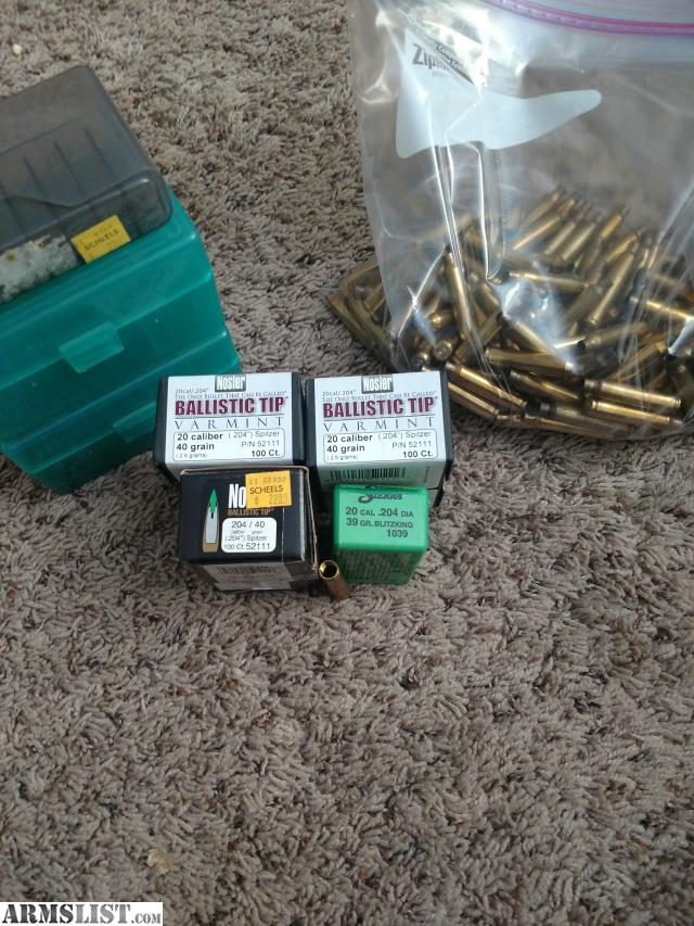 ARMSLIST - For Sale: 204 Ruger brass and bullets