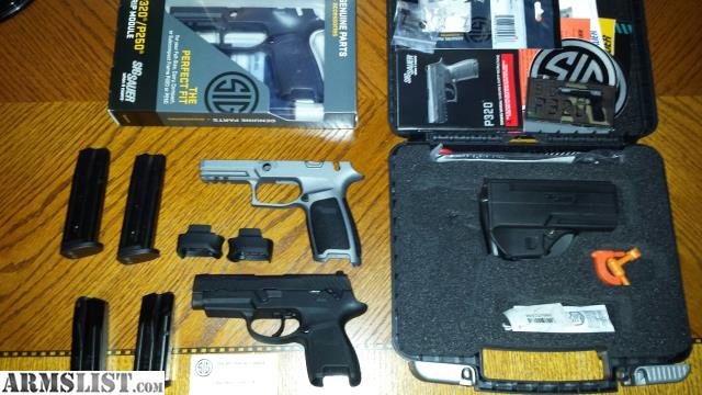 ARMSLIST - For Sale: P320 manual safety many extras