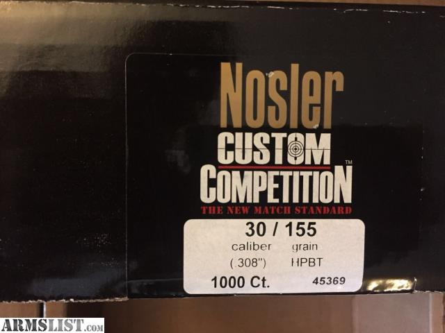 ARMSLIST - For Sale: 155gr HPBT Nosler Custom Competition Bullets 30