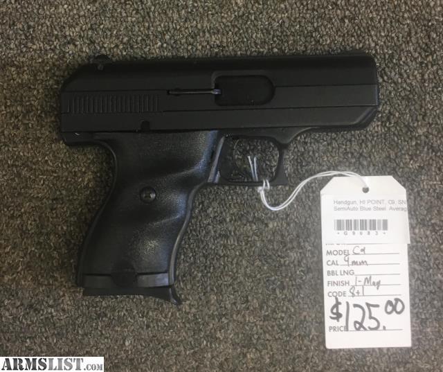 ARMSLIST - For Sale: Hi-Point C9 9mm Pistol